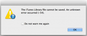 itunes Windows system error 54